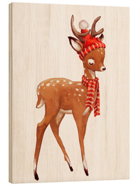 Madera  Winter deer with scarf and hat - Kidz Collection
