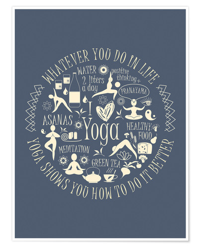 Póster Yoga - my world II