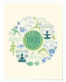 Póster Yoga - my world I