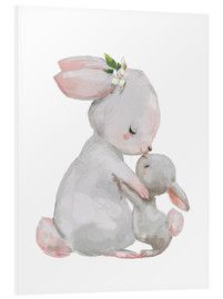Forex  Cute white bunnies - mother with child - Kidz Collection