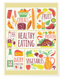 Póster To eat healthy food