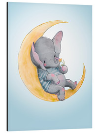 Cuadro de aluminio  Elefante en la luna - Kidz Collection