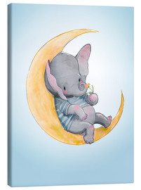 Lienzo  Elefante en la luna - Kidz Collection