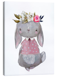 Lienzo  Summer bunny with flowers in her hair - Kidz Collection