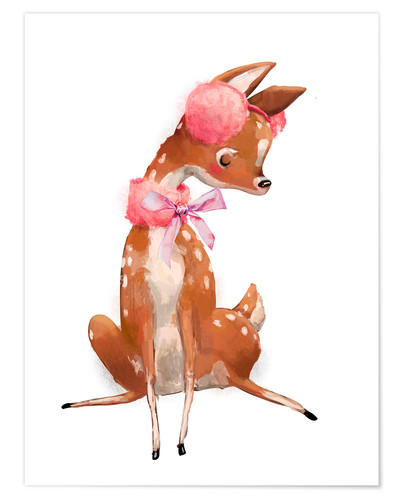 Póster Fawn in pink