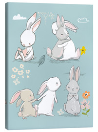 Lienzo  Bunny friendship - Kidz Collection