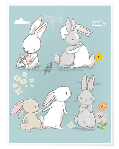 Póster Bunny friendship
