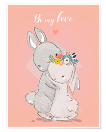 Póster Be my love bunny