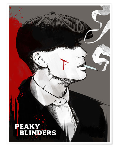 Póster Tommy Shelby de Peaky blinders - art print