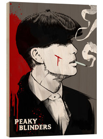 Madera  Tommy Shelby de Peaky blinders - art print - 2ToastDesign