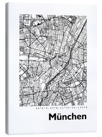 Lienzo  Mapa de la ciudad de munich - 44spaces