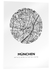 Metacrilato  Mapa de la ciudad de munich - 44spaces