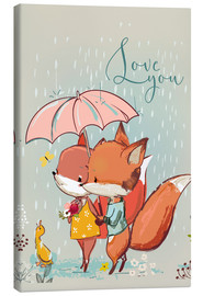 Lienzo  Fox love - Kidz Collection
