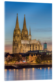 Metacrilato  The Cologne Cathedral in the evening - Michael Valjak