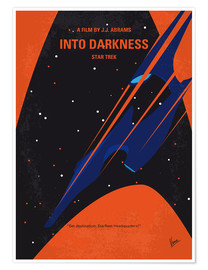Póster No931 My ST Into Darkness minimal movie poster