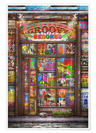 Póster Groovy Records