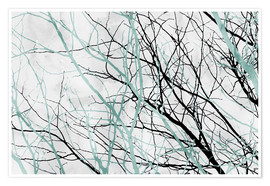 Póster Pastel Branches 2