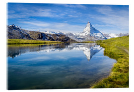Cuadro de metacrilato  Matterhorn and Stellisee in the Swiss Alps, canton of Valais, Switzerland - Jan Christopher Becke