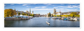 Póster Zurich panorama cityscape