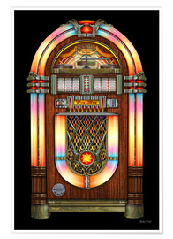 Póster  Vintage Jukebox - Michael Fishel
