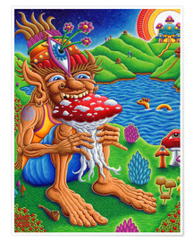 Póster Muncher Of Mushroomland
