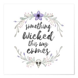 Póster Something wicked