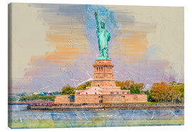 Lienzo  New York Statue of Liberty - Peter Roder