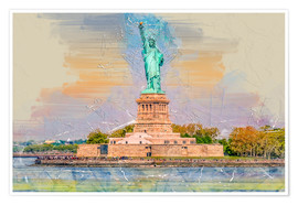 Póster New York Statue of Liberty