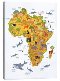 Lienzo  Animales africanos (inglés) - Kidz Collection