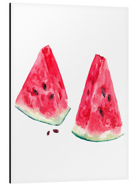 Aluminio-Dibond  watercolor slices of watermelon