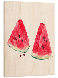 Madera  watercolor slices of watermelon