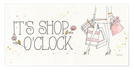 Póster  Shop o'clock - Anne Tavoletti