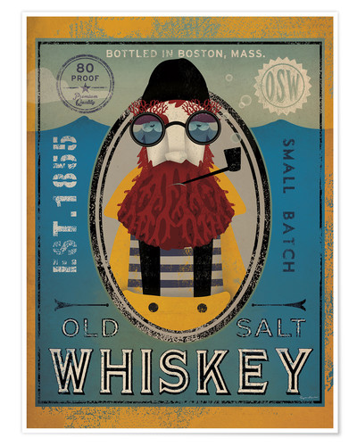 Póster Old Salt Whiskey