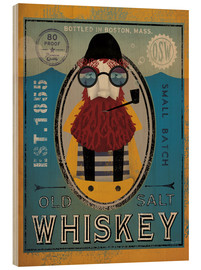 Cuadro de madera  Old Salt Whiskey - Ryan Fowler