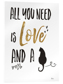 Cuadro de metacrilato  All you need is love and a cat (inglés) - Veronique Charron
