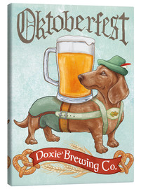 Lienzo  Beer Dogs III Oktoberfest - Mary Urban