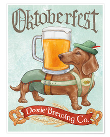 Póster  Beer Dogs III Oktoberfest - Mary Urban