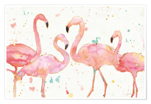 Póster Flamingo Fever I