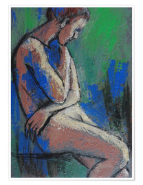 Póster In The Garden - Female Nude