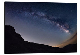 Cuadro de aluminio  Milky Way arch and starry sky at high altitude in summertime on the Alps - Fabio Lamanna