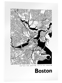 Metacrilato  Mapa de la ciudad de Boston - 44spaces