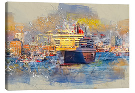 Lienzo  Hamburg Queen Mary II, in the background the Elbphilharmonie - Peter Roder