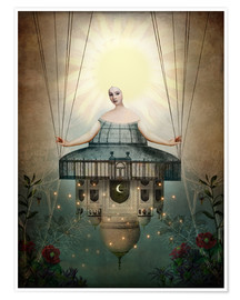 Póster  Mujer brillos del sol - Catrin Welz-Stein