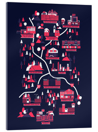 Cuadro de metacrilato  The Walking Dead Map - Robert Farkas