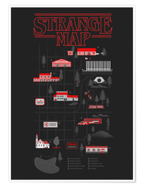 Póster Stranger Things map