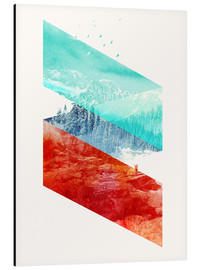 Cuadro de aluminio  Mountain Stripes - Robert Farkas