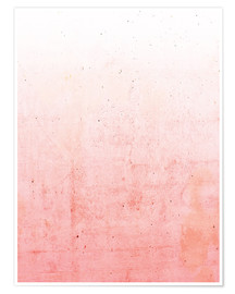 Póster Ombre rosa