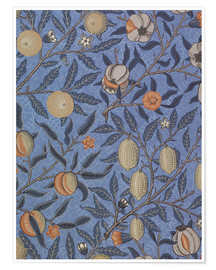Póster  Fruta azul o granada - William Morris
