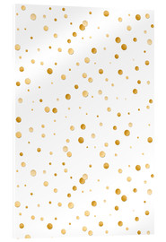 Cuadro de metacrilato  golden polka dot pattern