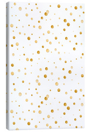 Lienzo  golden polka dot pattern